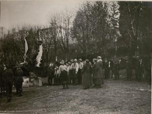 Feldgottesdienst anlässlich des Geburtsfestes Kaiser Wilhelms. (27.II.1918.)